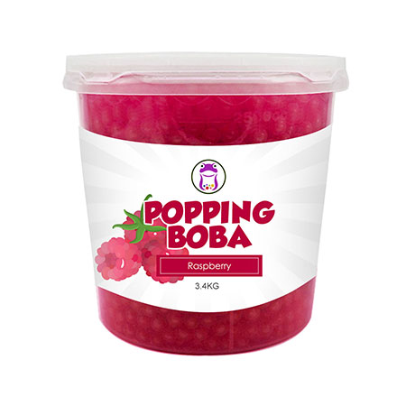Raspberry Popping Boba