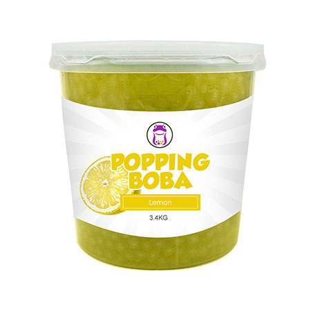 Lemon Popping Boba