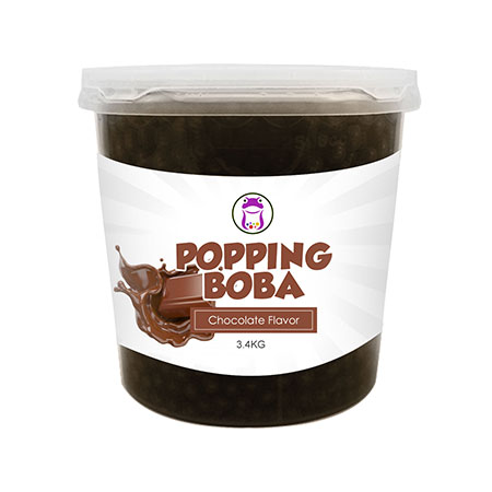 Chocolate Popping Boba